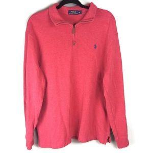 Polo Ralph Lauren Cotton 1/4 Zip Pullover Size XL